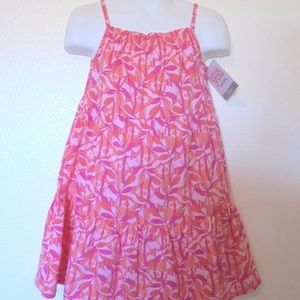 Just One You Long Pink Tiered Dress NWT 18M Girls